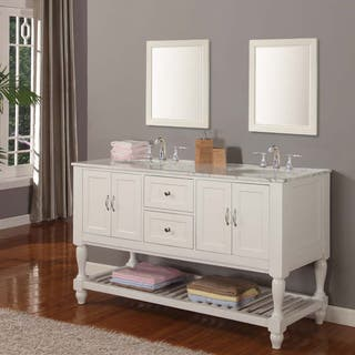 white vanity double sink. Direct Vanity 60 inch Pearl White Mission Turnleg Double Sink 51 Inches Bathroom Vanities  Cabinets For Less
