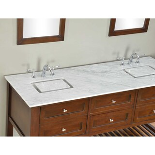 Direct Vanity 70-inch Dark Brown Mission Spa Double Vanity Sink Cabinet