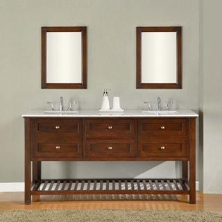 Direct Vanity Sink 70 Inch Dark Brown Mission Spa Double Vanity Sink Cabinet
