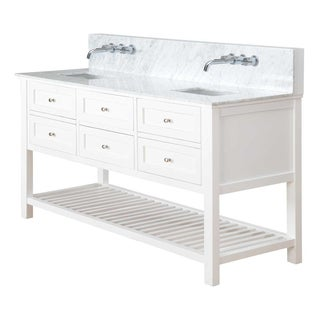 Direct Vanity 70-inch Pearl White Mission Spa Premium Double Sink Vanity