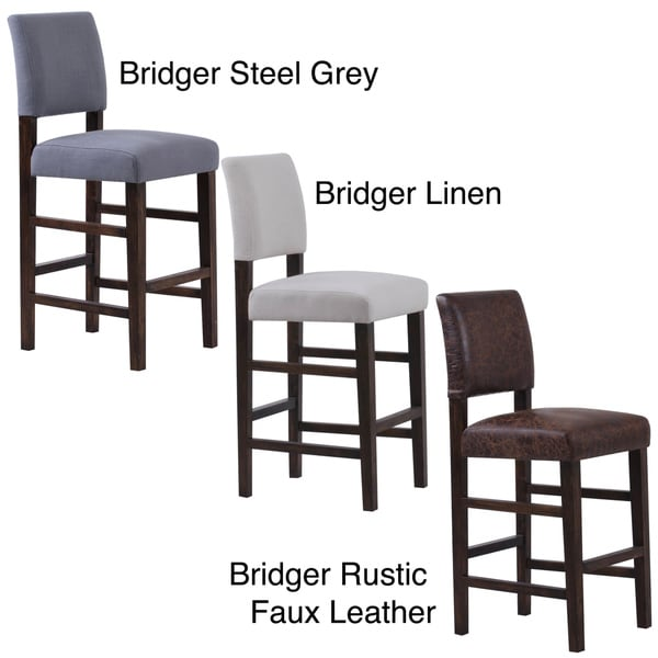 Bridger Upholstered Bar Chairs Set Of 2 Free Shipping