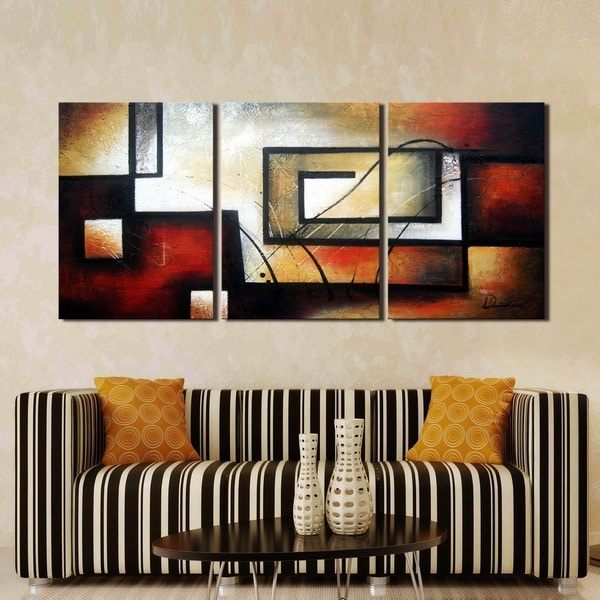 Clay Alder Home Hand Painted 3 Piece Gallery Wrapped Canvas Art Set