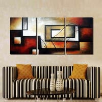 Clay Alder Home Hand Painted 3-piece Gallery-wrapped Canvas Art Set