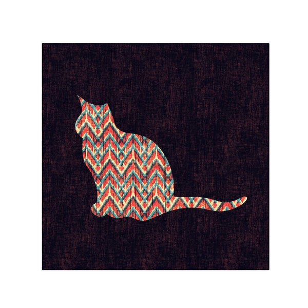 Budi Satria Kwan 'Ikat Cat' Canvas Art