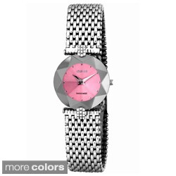 Jowissa Swiss Women's 'Facet Strass' Sunray Stainless Steel Watch