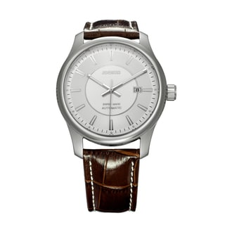 Jowissa Swiss Men's Nero Automatic Brown Leather Date Luminous Watch