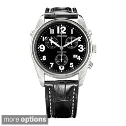 Jowissa Swiss Men's Ginebra Quartz Chronograph Date Leather Watch