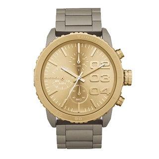 Diesel Men's DZ5303 Goldtone Dial Chronograph Stainless Steel Watch