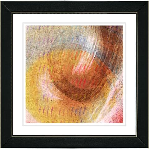 Studio Works Modern 'Moon Glow - Amber' Framed Print