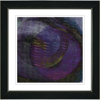 Studio Works Modern 'Moon Glow - Midnight Blue' Framed Fine Art Print