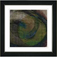 Zhee Singer 'Moon Glow - Moss' White Framed Print