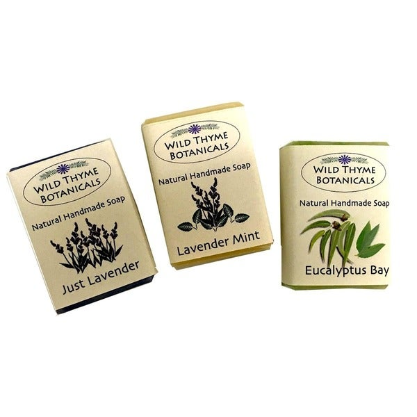 Lavender Blends Natural Handmade 3-bar Soap Trio. Opens flyout.