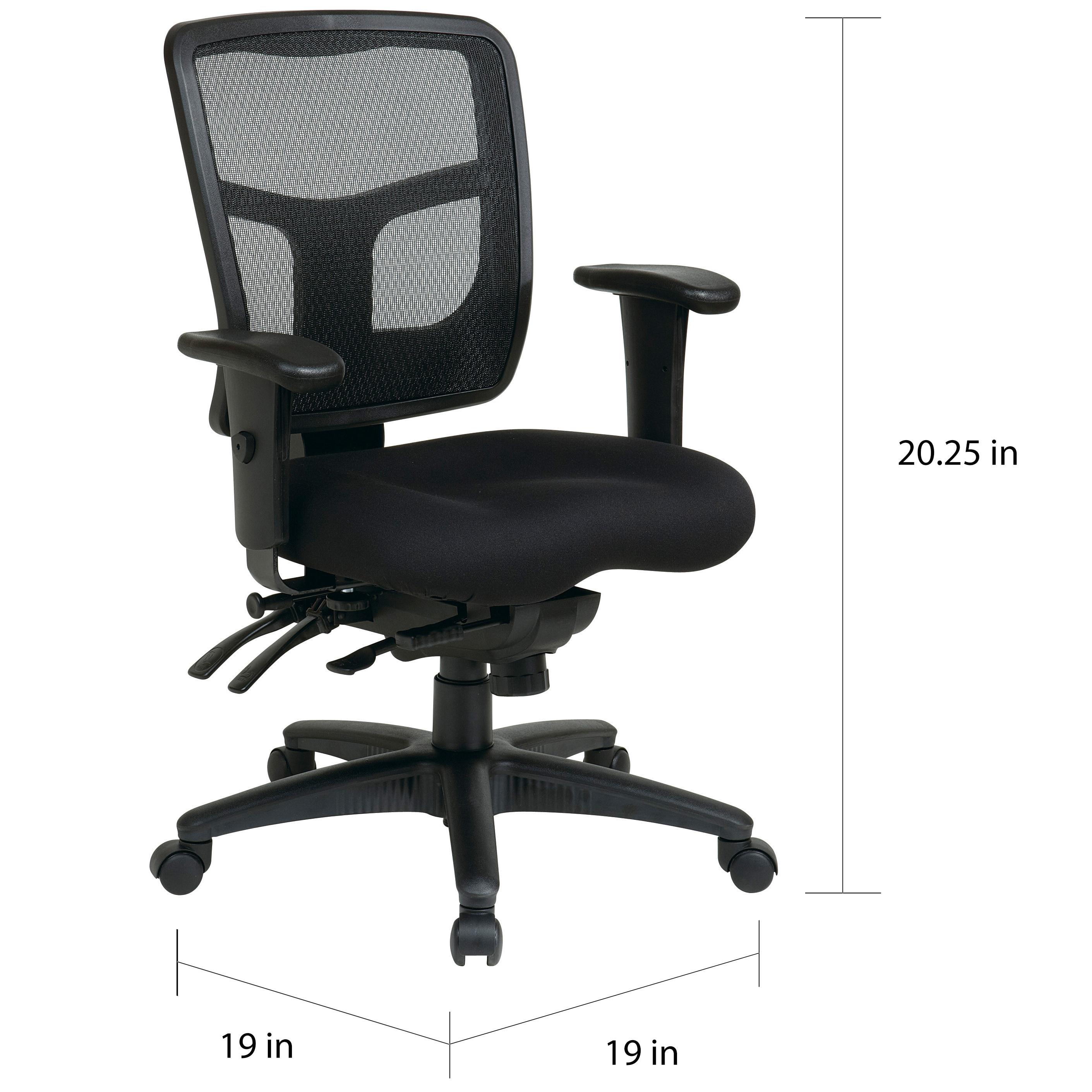 Astonishing Pro Line Ii Progrid Black Padded Mesh Office Chair Pdpeps Interior Chair Design Pdpepsorg
