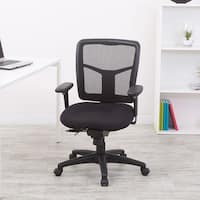 Office Star Products Pro-Line II ProGrid Black Padded Mesh Office Chair