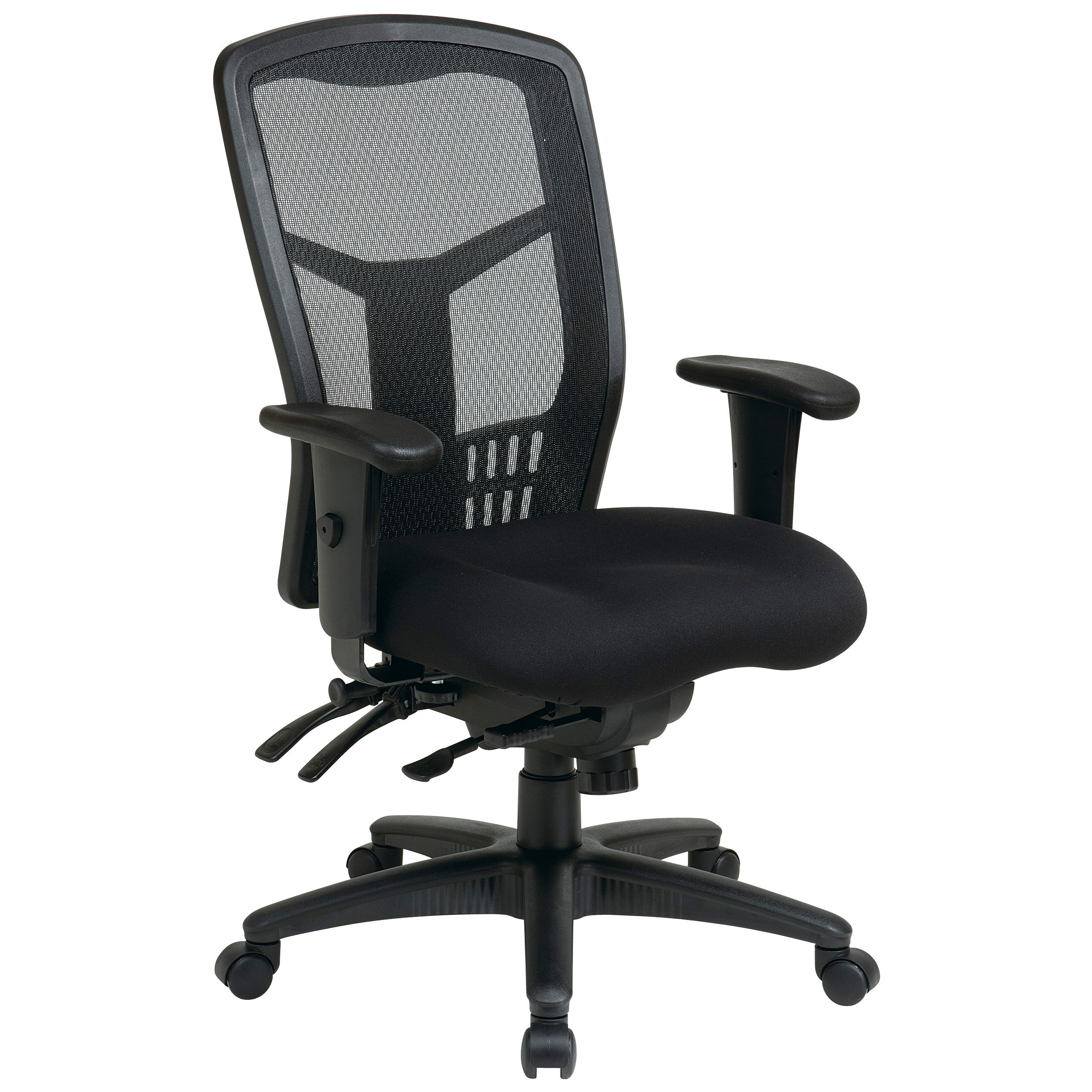 Details About Pro Line Ii Progrid Black Breathable Fixed Back Office Chair