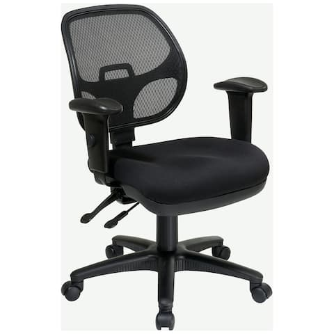 Breathable Padded Black Task Chair