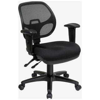 Breathable Padded Black Task Chair