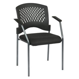 Pro-Line II Black Ventilated Visitor's Chair