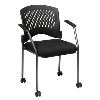 Pro-Line II Ventilated Plastic Rolling Visitor's Chair