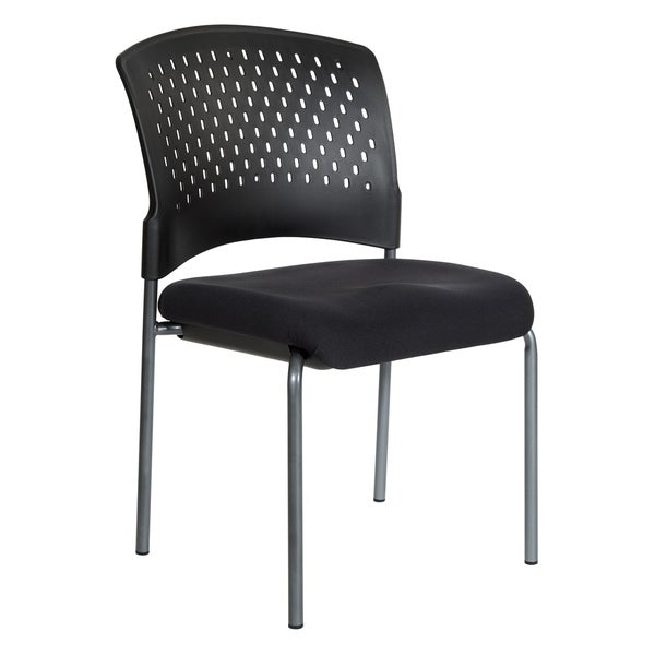Titanium Finish Armless Visitors Chair. Opens flyout.