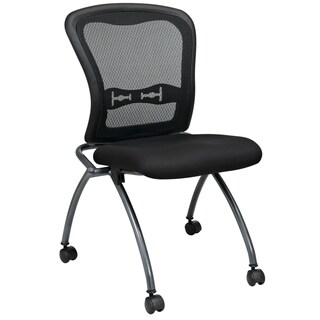 Pro-Line II Breathable Armless Padded Folding Chair (Pack of 2) - N/A
