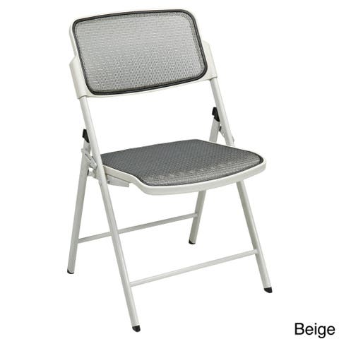 Big & Tall Armless Padded Folding Chair (Set of 2)