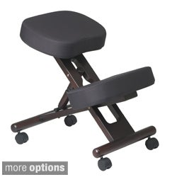 Work Smart Ergonomic Wood and Memory Foam Rolling Knee Chair