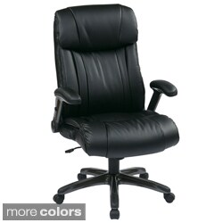 Office Star Products 'Work Smart' Eco Leather Contour Seat and Back Executive Chair