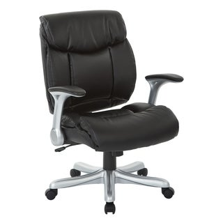 Executive Bonded Leather Chair With Padded Arms