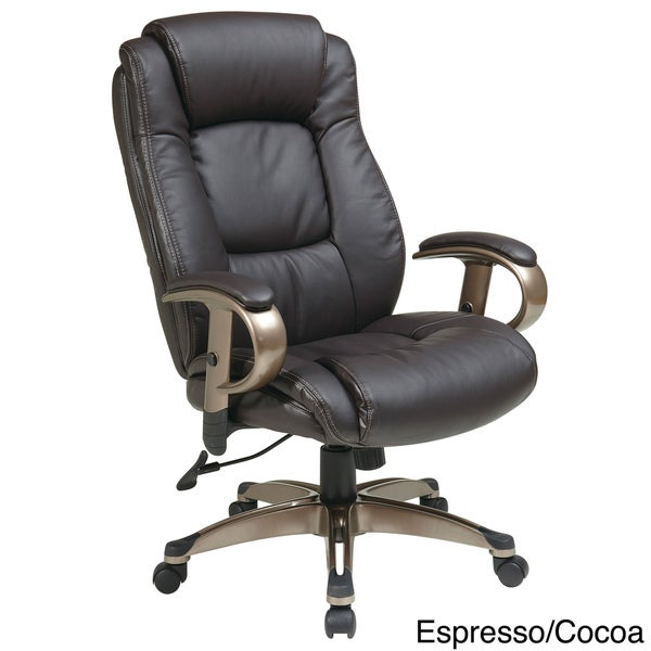 Office Star Products 'Work Smart' Eco Leather Seat and ...