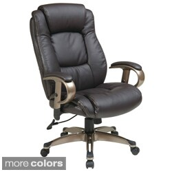 Office Star Products 'Work Smart' Eco Leather Seat and Back Executive Chair