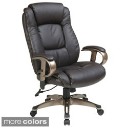 Lovely Office Star Products U0027Work Smartu0027 Eco Leather Seat And Back Executive Chair