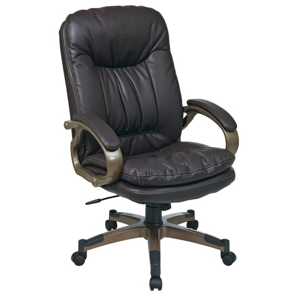 Executive Bonded Leather Chair with Locking Tilt Control