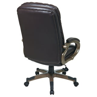 Office Star Products 'Work Smart' Eco Leather Seat and Back Executive Chair Model ECH8350