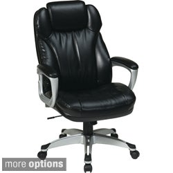 Executive High Back Black Bonded Leather Chair with Locking Tilt Control