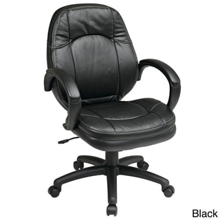 Deluxe Faux Leather Office Chair