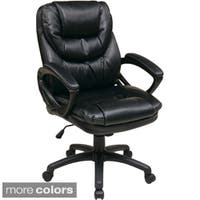 Office Star Products 'Work Smart' Faux Leather High Back Chair