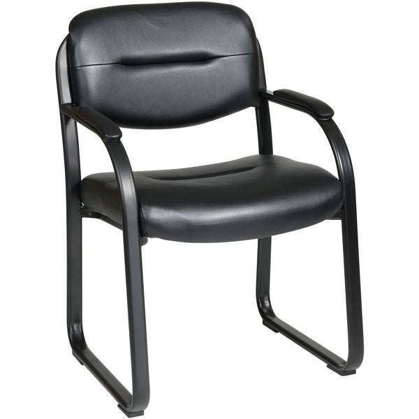 Office Star Products Work Smart Faux Leather Contour  : Office Star Products Work Smart Faux Leather Contour Seat and Back Visitors Chair f5ff456d 0681 4685 8b5b c71185560759600 <strong>Computer</strong> Chair without Wheels from www.overstock.com size 600 x 600 jpeg 13kB
