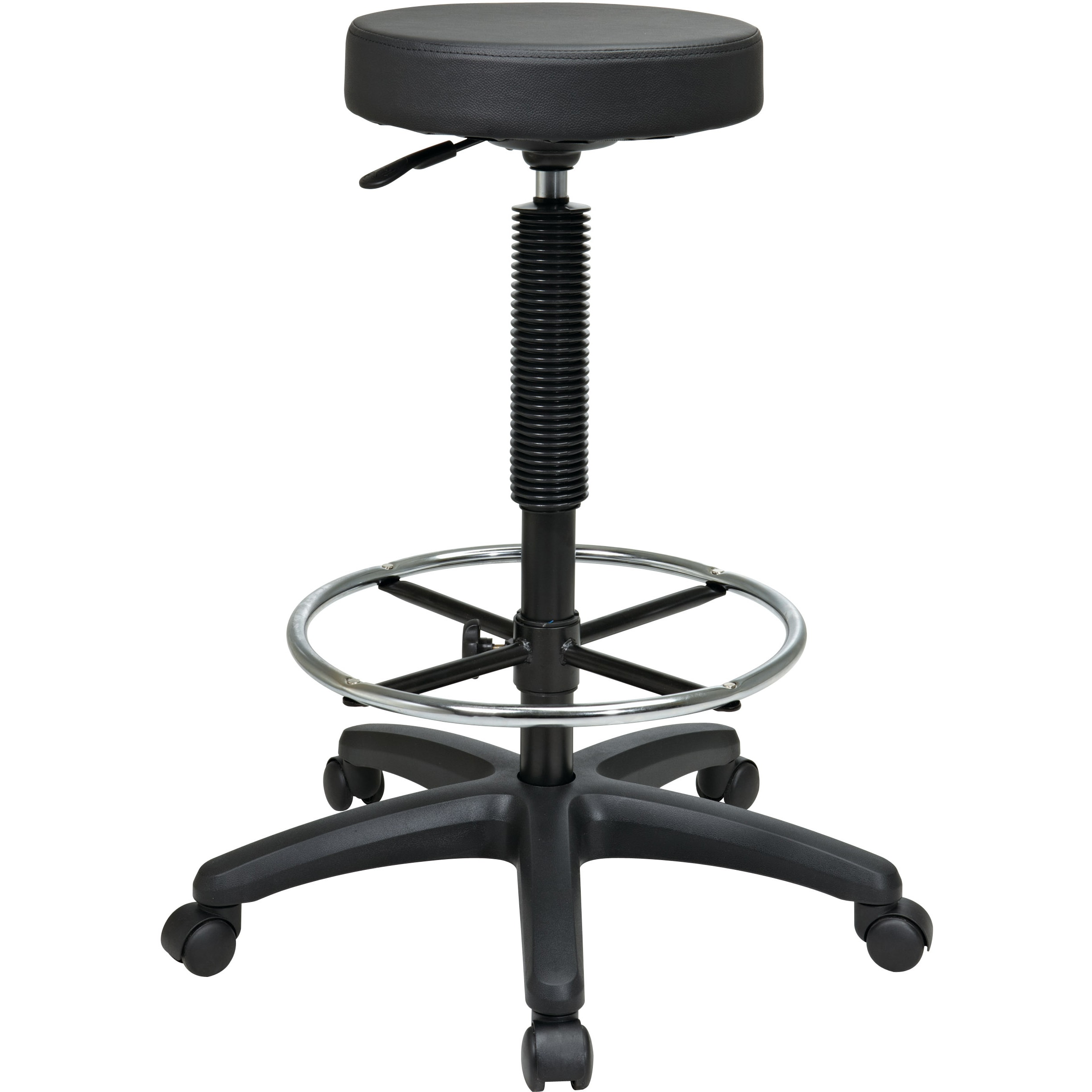 Superb Office Star Products Work Smart Backless Drafting Stool With Nylon Base And Adjustable Foot Ring Cjindustries Chair Design For Home Cjindustriesco