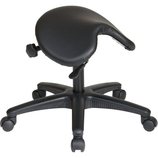 Office Star Products Work Smart Backless Drafting Saddle Seat Stool