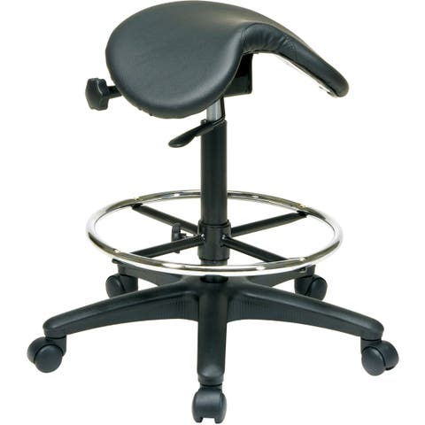 Office Star Work Smart Backless Drafting Saddle Seat Stool