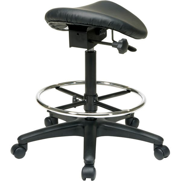 Phenomenal Shop Office Star Work Smart Backless Drafting Saddle Seat Gmtry Best Dining Table And Chair Ideas Images Gmtryco