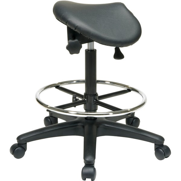 Office Star Products u0027Work Smartu0027 Backless Drafting Saddle Seat Stool - Free Shipping Today - Overstock.com - 15354560  sc 1 st  Overstock.com & Office Star Products u0027Work Smartu0027 Backless Drafting Saddle Seat ... islam-shia.org
