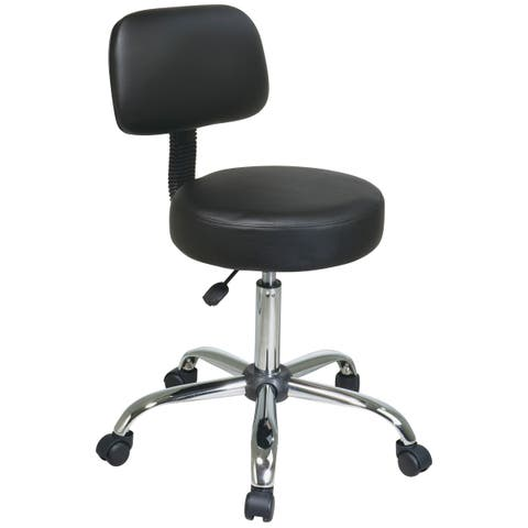 Office Star Pneumatic Drafting Chair with Stool and Back