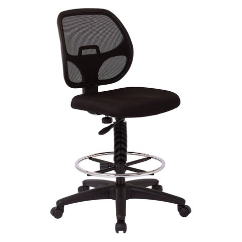 Office Star Products Work Smart Breathable Padded Fabric Drafting Chair
