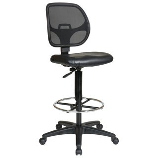 Office Star Work Smart Deluxe Mesh Back Drafting Chair