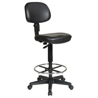 Sculptured Vinyl Armless Drafting Chair