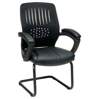 Office Star Products Work Smart Eco Leather Seat Visitor's Chair