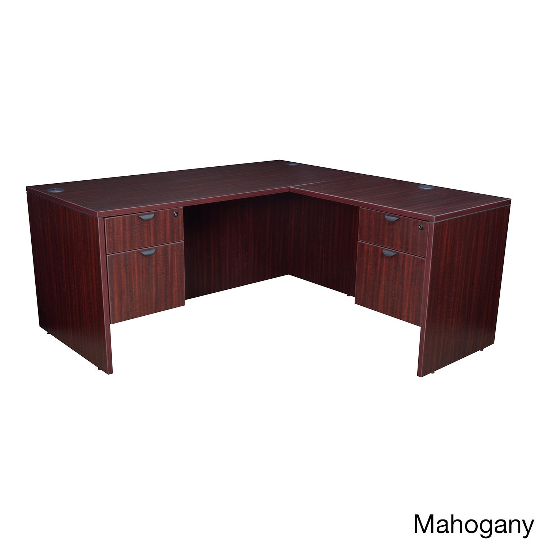 Regency Seating 66 Inch Corner Desk (Mahogany - Mahogany ...