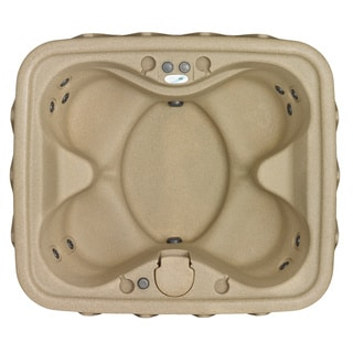 AquaRest AR-400 4 Person Sandstone Spa with 11 Jets and Free Cover